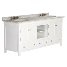 Sellwood Double Sink Console - White