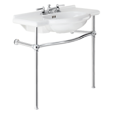 Abernathy Single Sink Console - Polished Chrome
