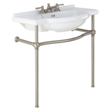 Abernathy Single Sink Console - Brushed Nickel