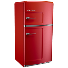 Original Refrigerator with Ice Maker, Left- Opening - Red