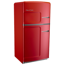 Original Refrigerator with Ice Maker, Right- Opening - Red