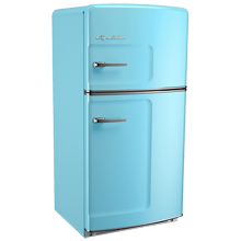 Original Refrigerator with Ice Maker, Left- Opening - Blue