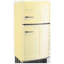 Original Refrigerator with Ice Maker, Left- Opening - Yellow