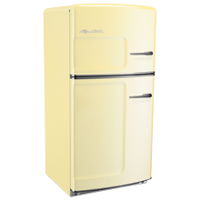 Original Refrigerator with Ice Maker, Right- Opening - Yellow