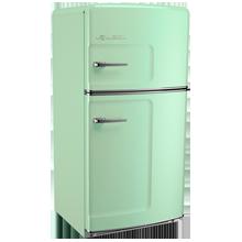 Original Refrigerator with Ice Maker, Left- Opening - Green