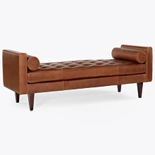 Kinney Leather Bench