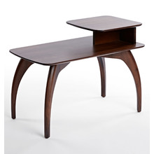 Side Table rhodes tiered side table - availalable in hampton walnut or