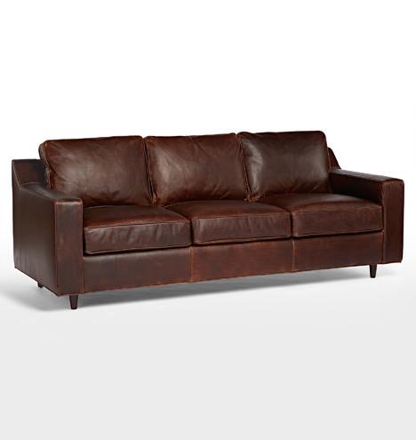 Garrison leather sofa rejuvenation for Garrison leather sectional sofa