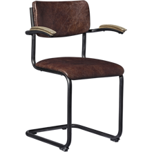 Cantilever Leather Chair