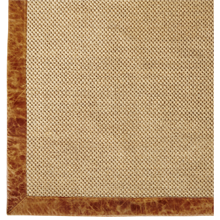 8' x 10' Sisal and Leather Rug