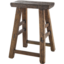 Reclaimed Rustic Pine Stool