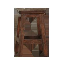 Handhewn Wood Stool