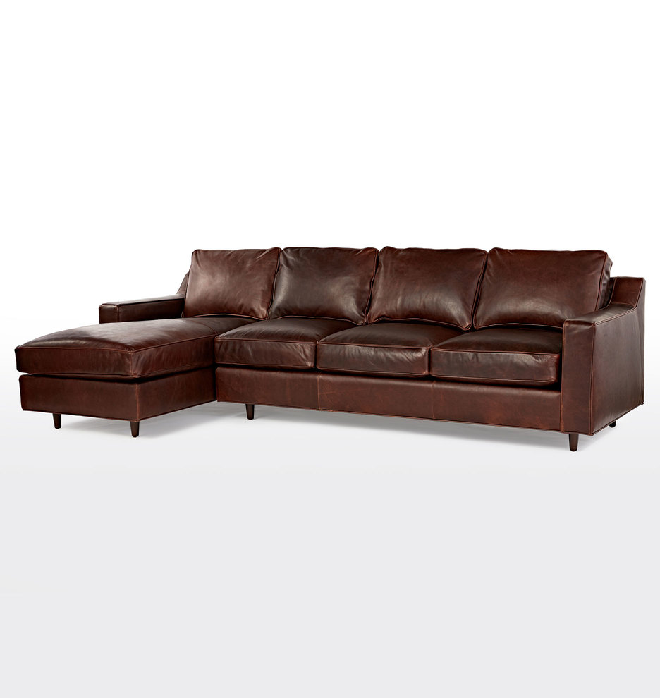 Garrison Sectional Leather Sofa Left Chaise