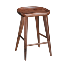 Walnut Tractor Seat Counter Stool