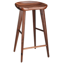 Walnut Tractor Seat Bar Stool