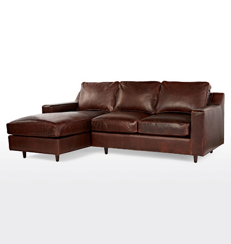 Garrison Small Sectional Leather Sofa Left Chaise