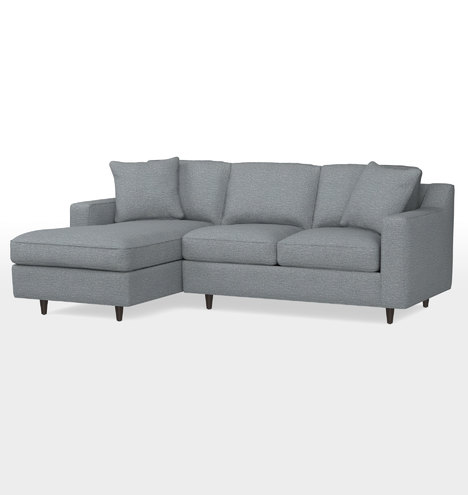 Garrison Small Sectional Sofa Left Chaise Rejuvenation