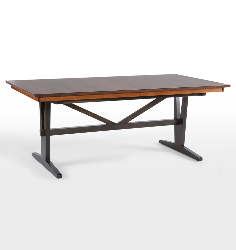 wooden metal dining tables rejuvenation cascade extendable table