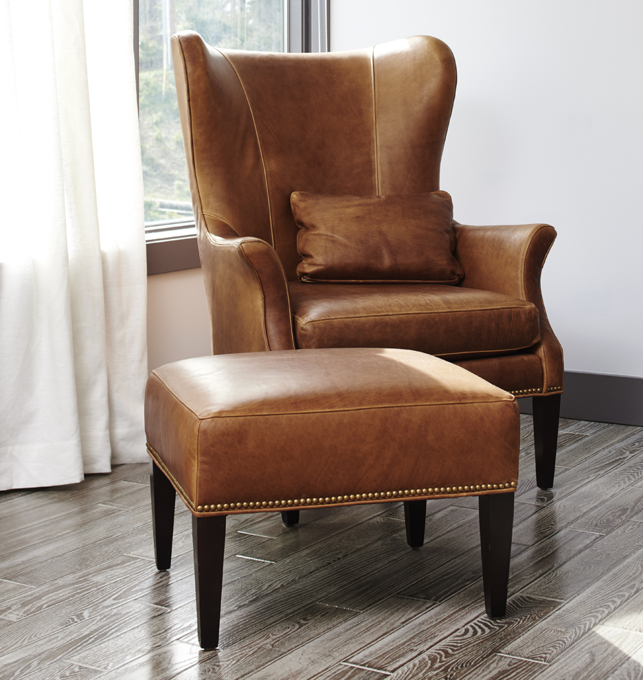 Clinton modern wingback chair rejuvenation for Wingback chair