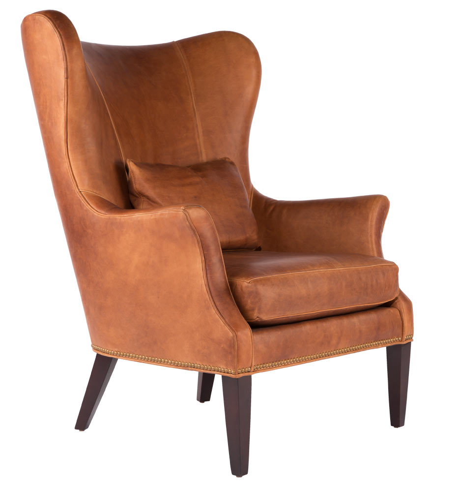 Clinton modern wingback chair rejuvenation for Modern armchair