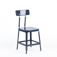 Aurora Industrial Table Stool with Back