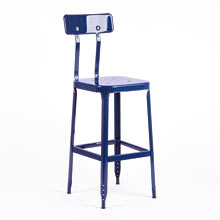 Aurora Industrial Counter Stool with Back