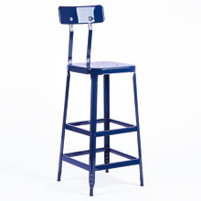 Aurora Industrial Bar Stool with Back