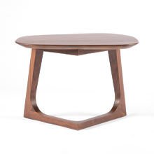 Chevron Walnut Side Table