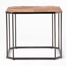 Geometric Top Side Table