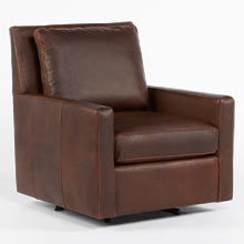 Bates Leather Swivel Chair