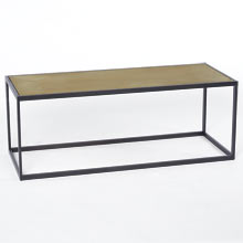 Ankeny Brass Top Coffee Table