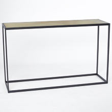 Ankeny Brass Top Console Table