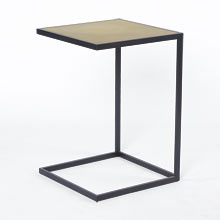 Ankeny Brass Top Side Table