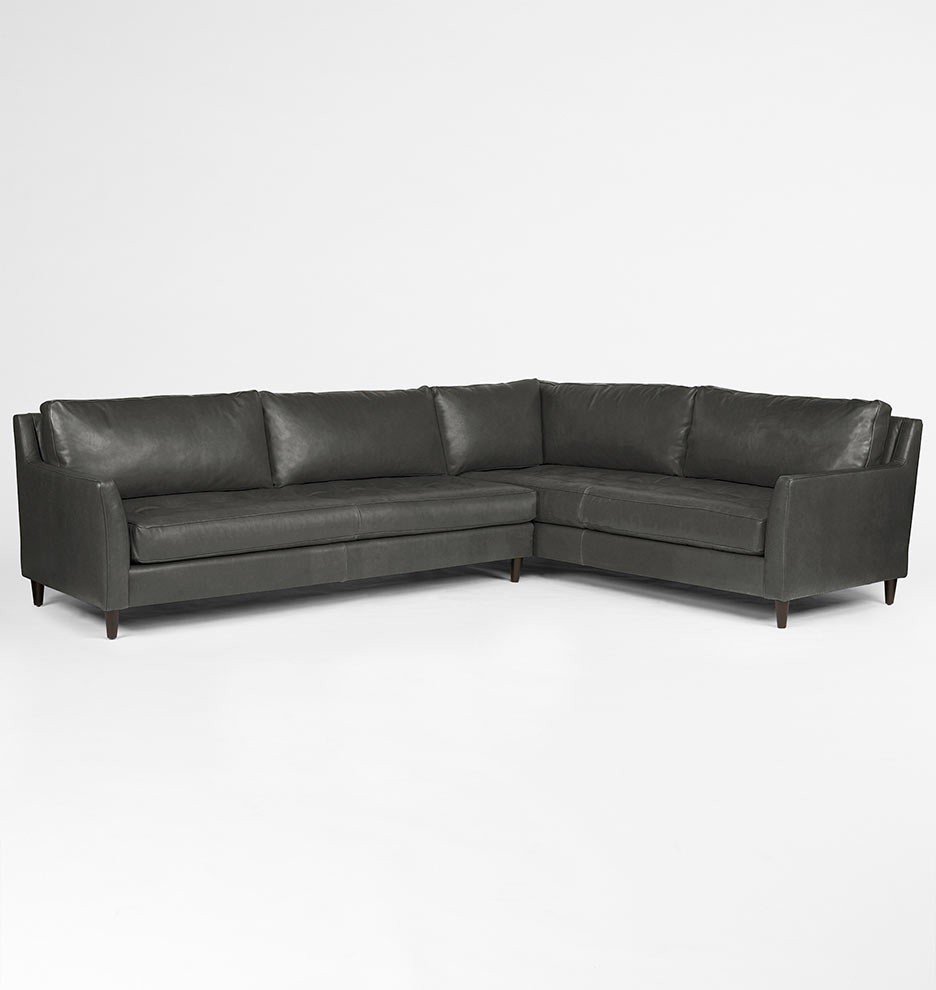 Hastings Sectional Leather Sofa Left Arm Rejuvenation