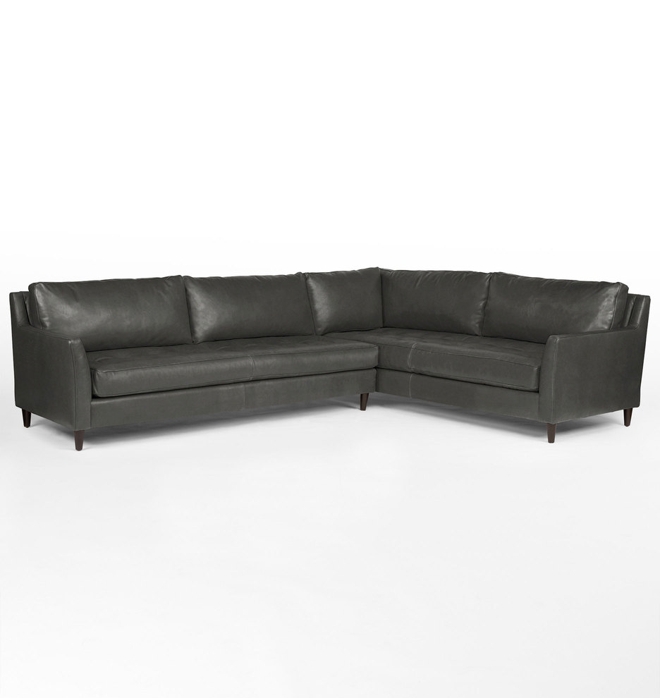 Hastings Sectional Leather Sofa Left Arm