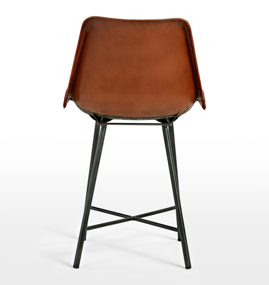 Industrial leather dining chair - Industrial Leather Dining Chair 14
