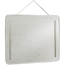 Pewter-Cord Mirror