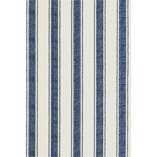 2' x 3' Indigo Ticking Stripe Rug