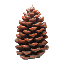 Large Holiday Pinecone Candle