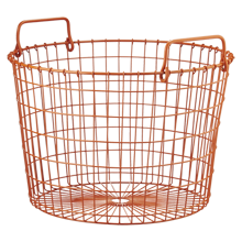 Orange Round Wire Basket