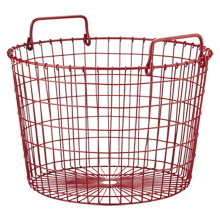 Red Round Wire Basket