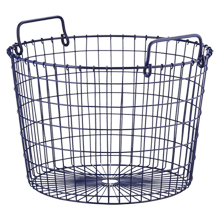 Blue Round Wire Basket