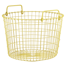 Yellow Round Wire Basket