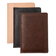 Leather Travel Wallet and Notebook