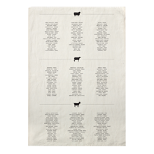 Cheese Families Tea Towel