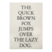 Type Test Tea Towel