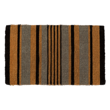 Black and Gray Stripe Doormat
