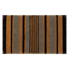 Black and Gray Stripe Doormat