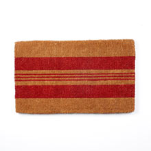 Red Horizontal Stripe Doormat