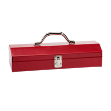 "15"" Metal Utility Toolbox - Red"